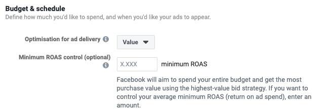 kampania FB roas