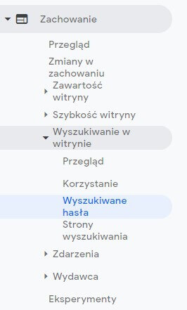 google analytics wyszukiwane hasła
