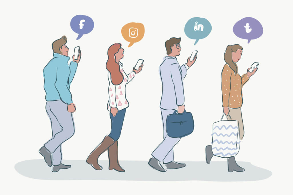 facebook linkedin odbiorcy